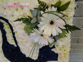 Spurs Badge Funeral Flowers