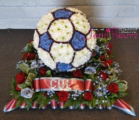 Funeral Flowers Football