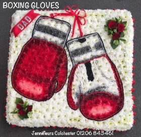 Boxing Gloves Funeral Flowers Colchester