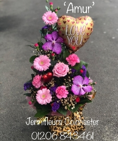 Flowers Wrapped in Animal Print by Jennifleurs Florist Colchester