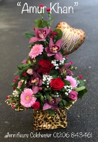 Animal Print Wrapped Flowers by Jennifleurs Florist Colchester