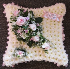 Cushion   Pink and White