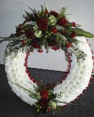 Red and White Based Wreath