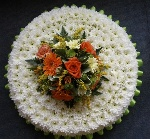 Large based Posy in Citrus Colours