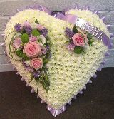 Lilac Pink and White Heart