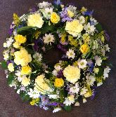 Blue Lemon and White Wreath