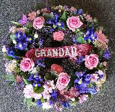 Pink and Blue Wreath