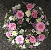 Pretty Pink and Lilac Wreath