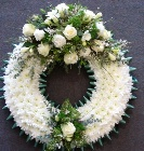 Green and White Based Wreath